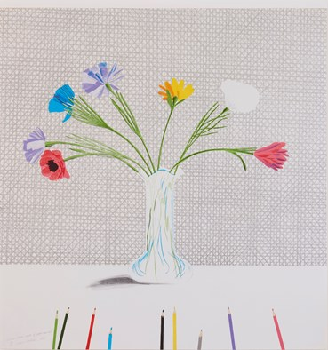 , David Hockney, Coloured Flowers Made of Paper and Ink, 1971, 50649