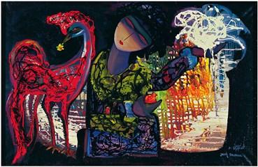 , Jazeh Tabatabai, Horse and Woman, 1971, 36647