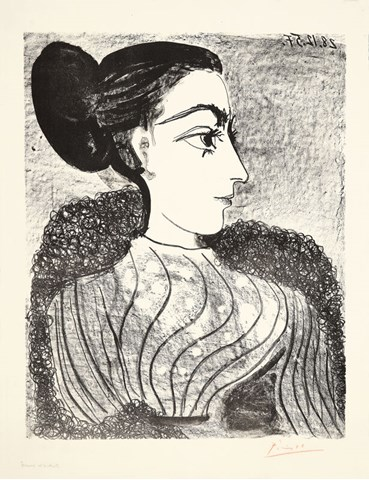 , Pablo Picasso, Femme au chignon, 1957, 50620