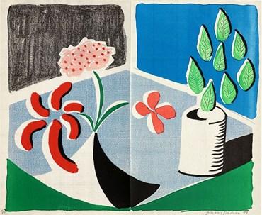 , David Hockney, Red Flowers & Green Leaves, Separate, May, 1988, 49372