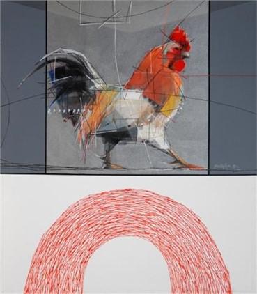 Painting, Mostafa Darebaghi, Proud, 2002, 7409