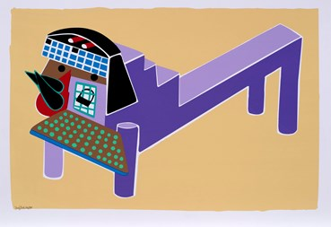 , Parviz Tanavoli, Purple Lion, 2013, 42077