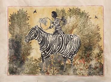 , Mohammad Barrangi, Untitled (Zebra Yellow), 2021, 48950
