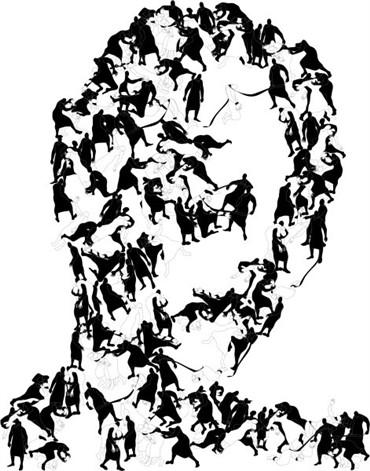 , Parastou Forouhar, Portraits II, 2014, 347