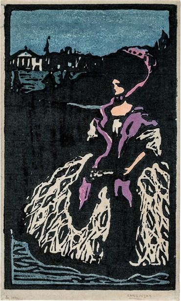 , Wassily Kandinsky, Dame mit Fächer, 1903, 50621