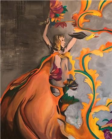 Painting, Maryam Mousavi, Liberal, 2014, 17415
