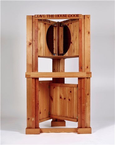 , Siah Armajani, Dictionary for Building Fireplace Mantel with Window, 1983, 18549