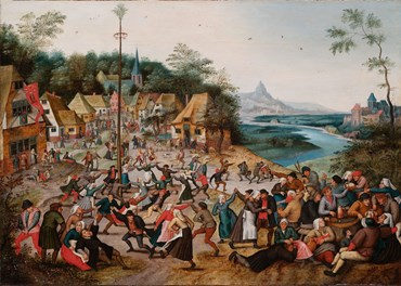 , Pieter Brueghel the Younger, Saint George's Kermis with the Dance around the Maypole, 1672, 50643