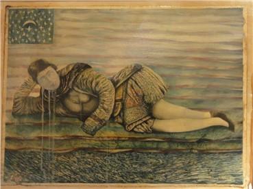 , Ghasem Hajizadeh, Qajar Woman Resting, 2005, 6131