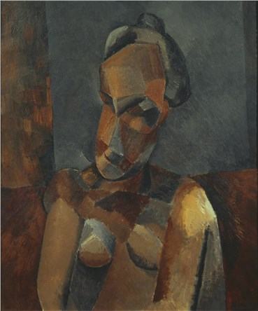 Painting, Pablo Picasso, Bust of a Woman, 1909, 21525
