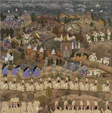 , Aliakbar Sadeghi, The Sun King Recreated, 2015, 6212