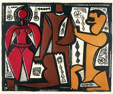 , Bahman Mohassess, Three Figures, 1990, 7549