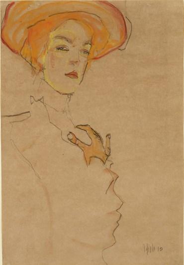 , Egon Schiele, Gerti in an Orange Hat, 1910, 49865