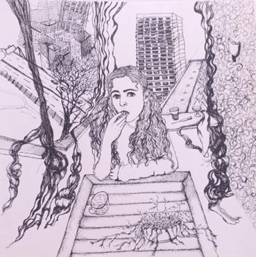 Drawing, Atousa Bandeh, Artemis, 2014, 42355