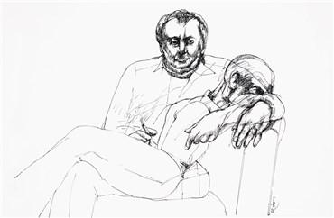 Drawing, Alireza Espahbod, Untitled, 1977, 22078