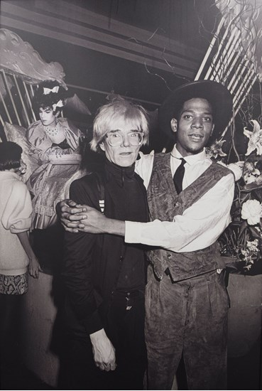 , Ben Buchanan, Andy Warhol & Jean-Michel Basquiat at AREA, NYC, 1985, 1985, 48936
