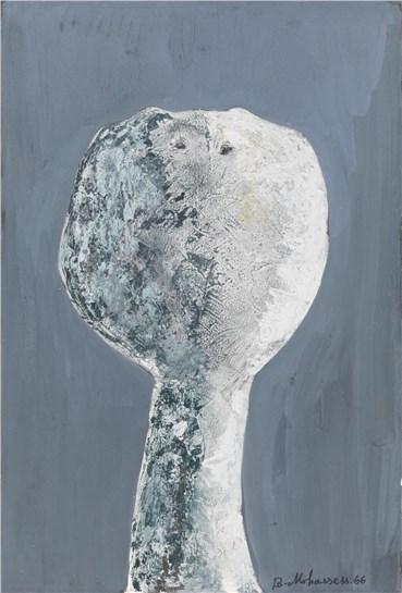 Painting, Bahman Mohassess, Head V, 1966, 23250