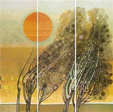 Painting, Abolghasem Saidi, Trees, 1982, 4755
