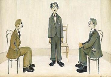 , Laurence Stephen Lowry, Ladies and Gentlemen, 1953, 50650