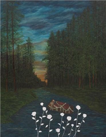 Painting, AmirHossein Bayani, Around Evening Time, 2020, 26347