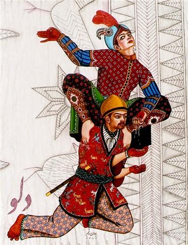Mixed media, Seyed Hossein Fasih, Delu, 2008, 12466