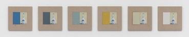 Kamrooz Aram, Variations on Wine Bottle, Polychrome on White Ground , 2021, 10025