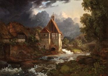, Ernst Ferdinand Oehme, Mill in the Plauenscher Grund near Dresden, 1830, 49433