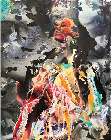 Painting, Afshin Naghouni, Longing, 2018, 23479