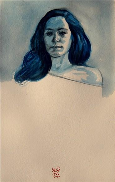 , Hossein Shirahmadi, A Blue Portrait(Fatemeh), 2021, 38197