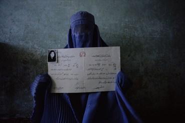 , Nina Berman, Afghan Woman with Diploma, Kabul, Afghanistan 1998, 1998, 49323