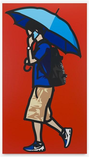 , Julian Opie, Blue Umbrella , 2014, 34942