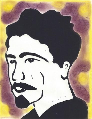 Mixed media, Afsoon, Ezra Pound, Usa, , 481