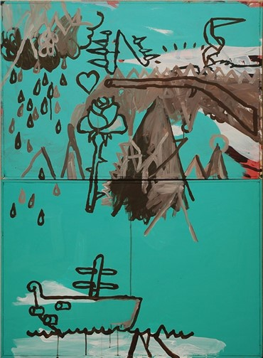 Painting, Amir Farhad, Albuquerque' S Fortune, 2009, 1925