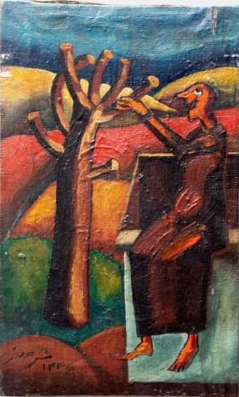 , Manouchehr Safarzadeh, Man and Tree, 1967, 28498