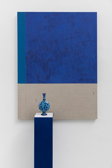 , Kamrooz Aram, Composition with lapis lazuli, cobalt and ceramic bottle, 2021, 45672
