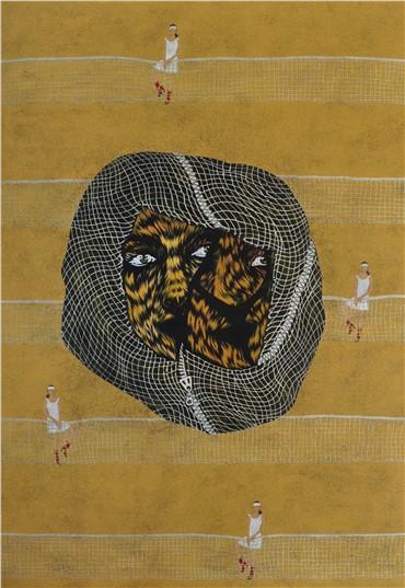Painting, Elnaz Farajollahi, Self Portrait, 2011, 7455