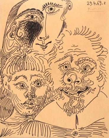 , Pablo Picasso, Trois tête, 1969, 49430