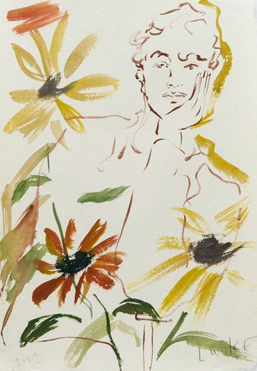 , Luke Edward Hall, Boy with Sunflowers, 2021, 49829