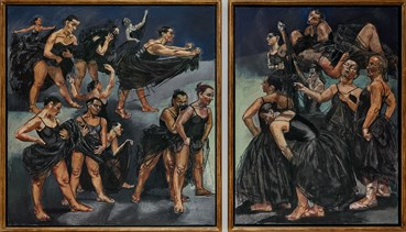 , Paula Rego, Dancing Ostriches Diptych From Disney's Fantasia, 1995, 50646