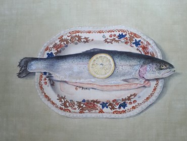 , Cathy Ross, Trout on Spode Plate, 2021, 49193