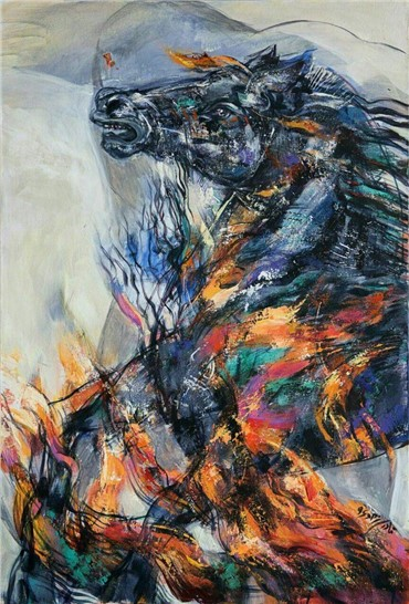 , Niloufar Ghaderinejad, Horse of Siavash, 2017, 12193