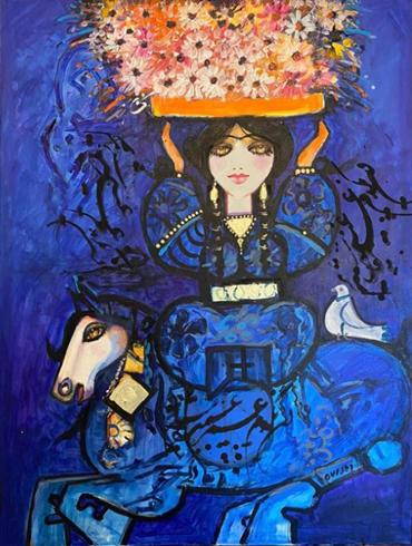 , Nasser Ovissi, Flower Seller, 2021, 42364