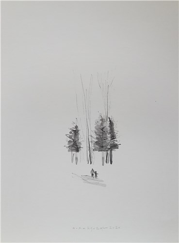 Drawing, Hajar Rahgozar, Untitled, 2020, 34675