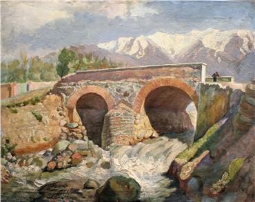Painting, Jafar Petgar, Gholhak Bridge (North of Tehran), 1942, 6902