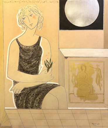 , Bahram Dabiri, Lady in Black with the Moon, 2018, 47210