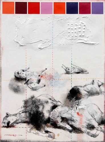 Painting, Mostafa Darebaghi, Snapshot, 2011, 7395