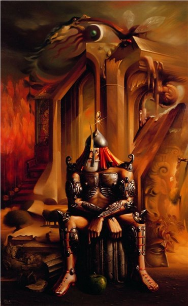 Painting, Aliakbar Sadeghi, Table, 1992, 27570