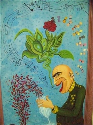 Painting, Ali Chitsaz, I Am Full of Myself, Whatever I Say Is a Rose, , 12777