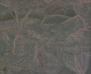 Painting, Seroj Barseghian, Pink Landscape, 2020, 48099