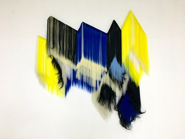 , Hiva Alizadeh, black and white, blue and yellow, 2021, 46791